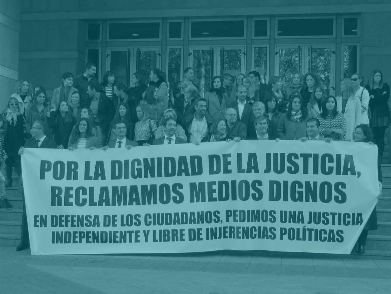 Protestas en la última huelga de Jueces.