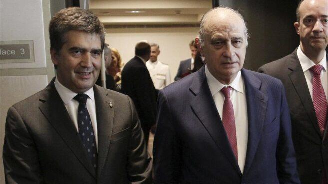 Ignacio Cosidó, Jorge Fernández Díaz y Francisco Martínez en una imagen de archivo