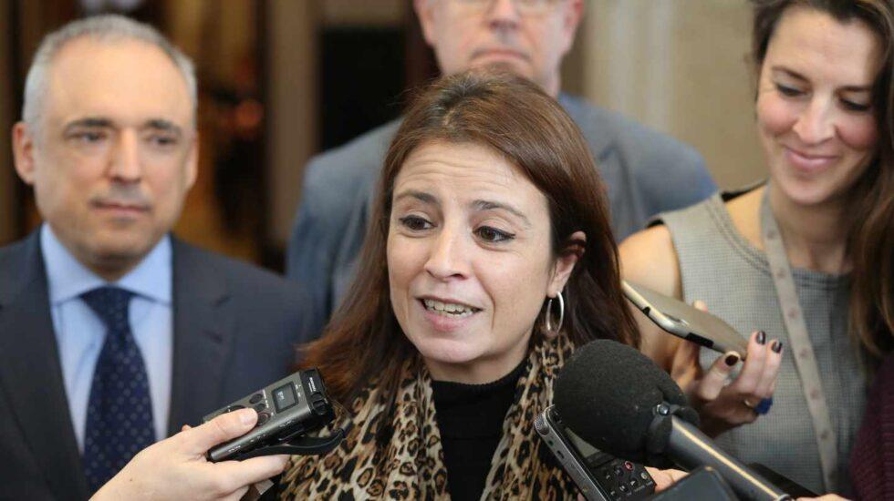 Adriana Lastra, portavoz del grupo parlamentario socialista.