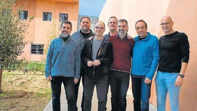 Los presos independentistas, en Lledoners.