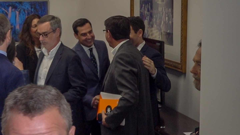 Moreno Bonilla saluda a Marín en las negociaciones PP y Cs.