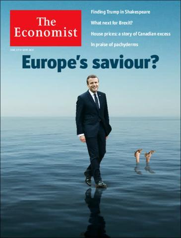Portada de The Economist tras la victoria de Macron