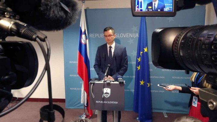 El presidente esloveno, Marjan Sarec, este viernes en Bruselas.