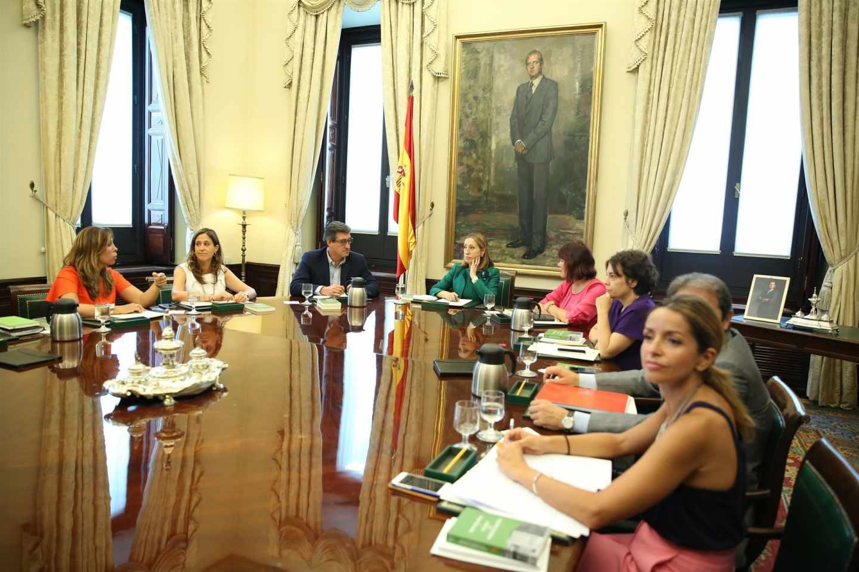 Los miembros de la mesa del Congreso.