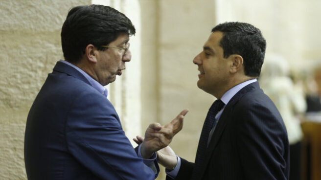 Juan Marín y Juan Manuel Moreno en una imagen de archivo