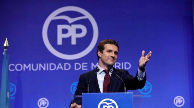 Pablo Casado, en un acto del PP de Madrid.