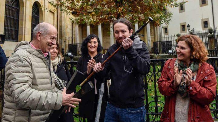 Pablo Iglesias, en Guernica este viernes.