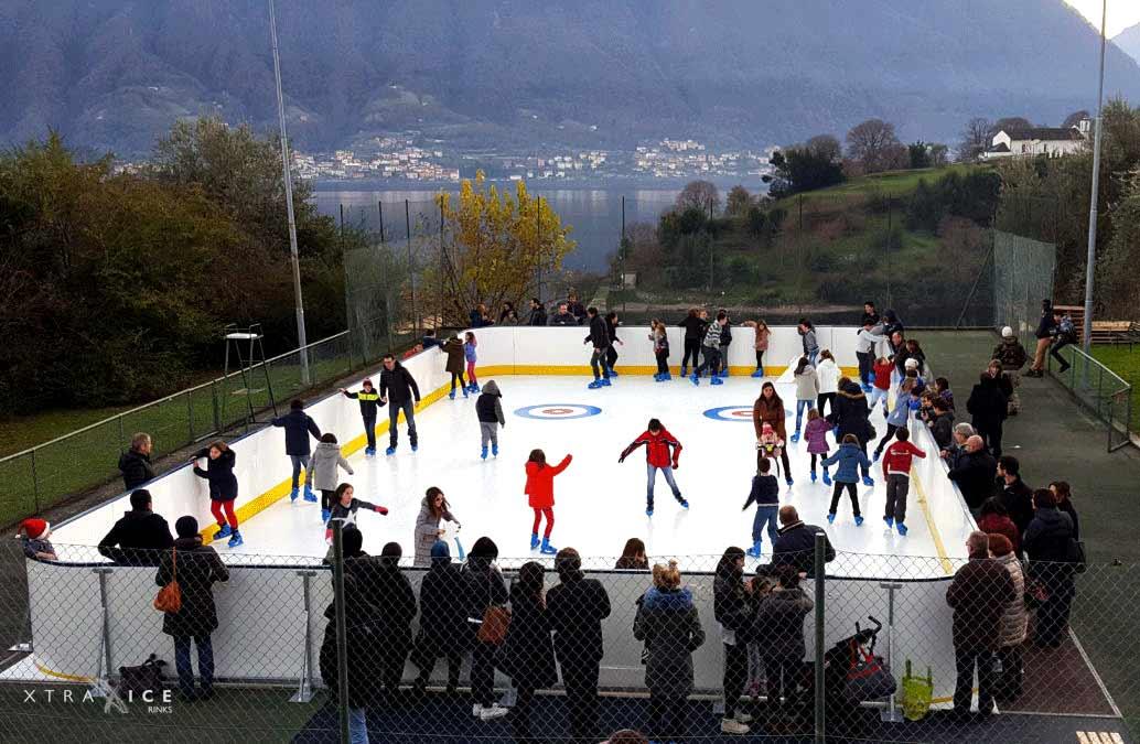 Pista de patinaje en Tremezzina (Italia)