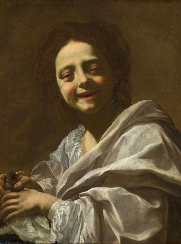 'Retrato de niña con paloma', de Simon Voue.