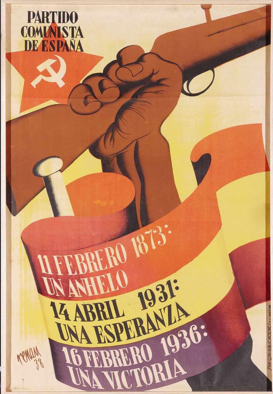 '11 febrero 1873, 14 abril 1931,16 febrero 1936: una victoria', de Josep Renau.