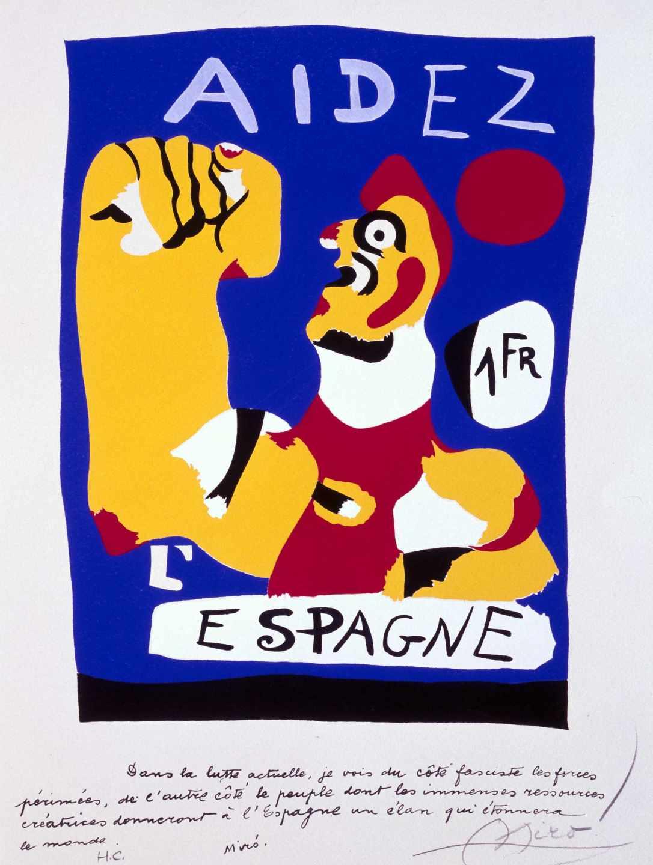 'Aidez l'Espagne', Joan Miró.