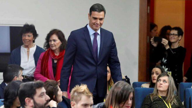 El presidente del Gobierno, Pedro Sánchez, en rueda de prensa tras el Consejo de Ministros.