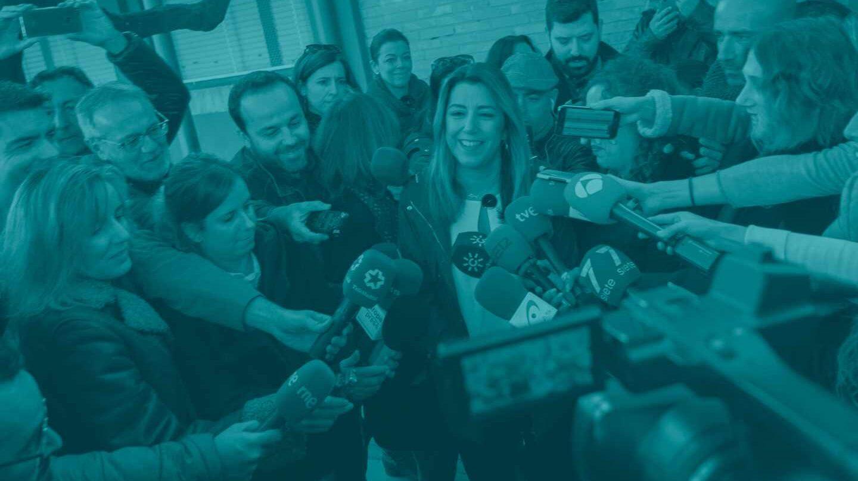 Susana Díaz, tras ir a votar.