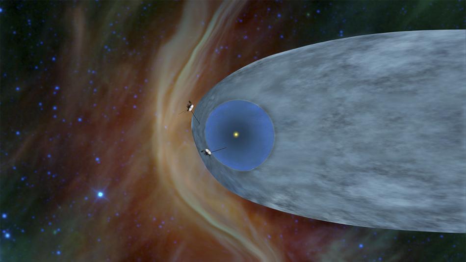 La sonda Voyager 2 sale de la Heliosfera