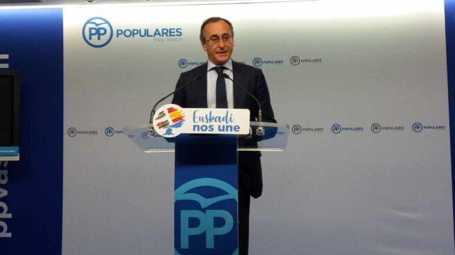 El presidente del PP en el País Vasco, Alfonso Alonso.