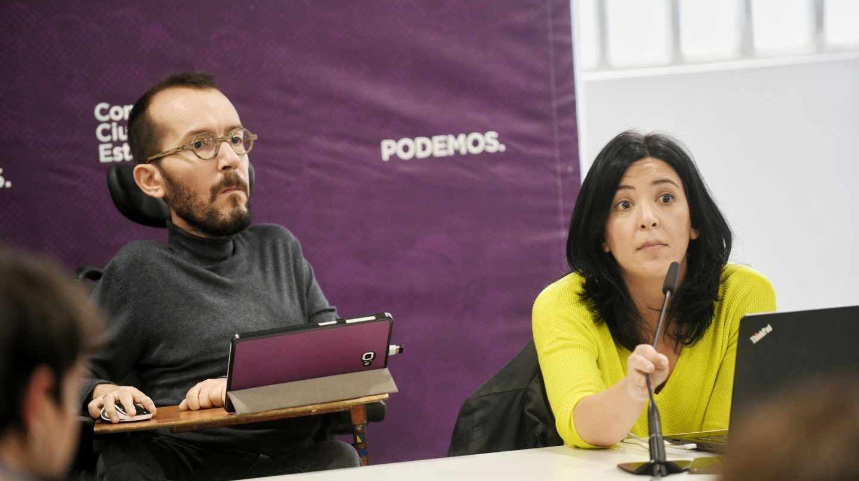 El secretario de Organización, Pablo Echenique, en la reunión del Consejo Ciudadano Estatal de Podemos.