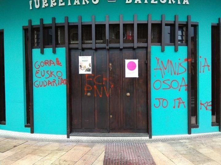 Imagen de una de las sedes atacadas estos días.