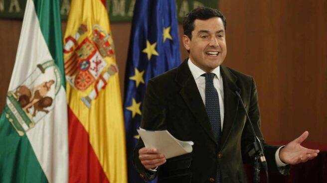 Juan Manuel Moreno Bonilla comparece en el Parlamento andaluz.