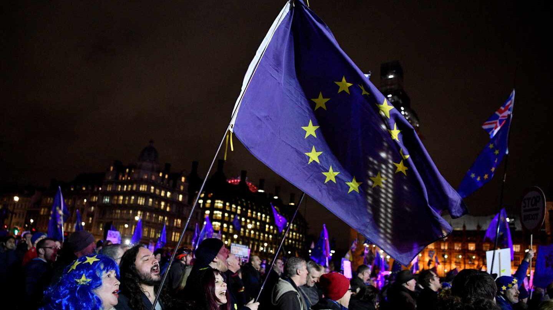 Manifestantes contra el Brexit en Londres.