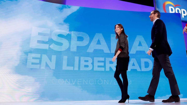 Andrea Levy y Javier Maroto, en la presentación de la Convención del PP.