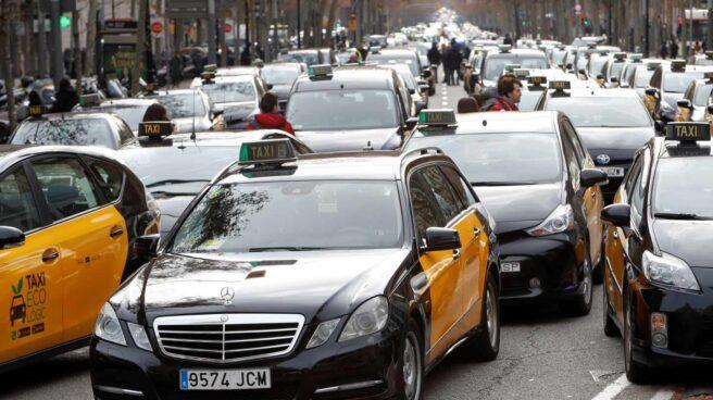 Huelga del taxi en Barcelona.