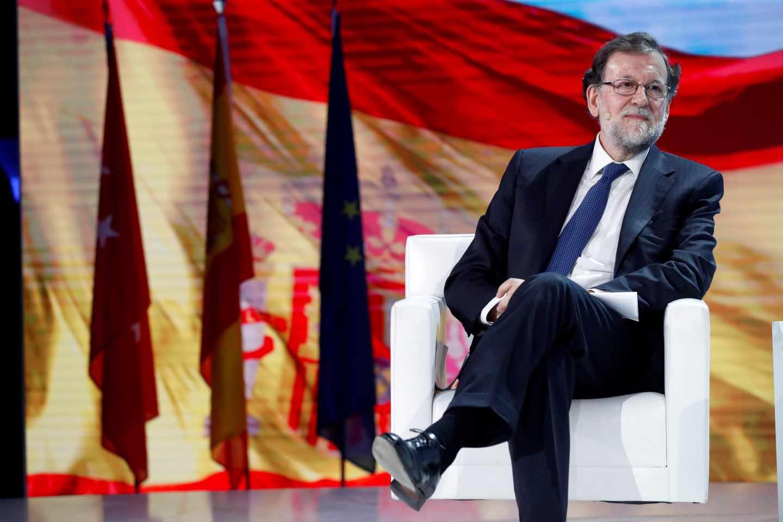 Rajoy durante su intervención en la convención