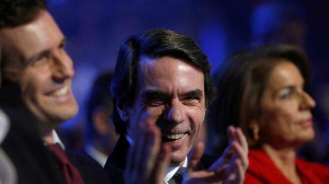 Aznar junto a Casado en la Convención del PP.