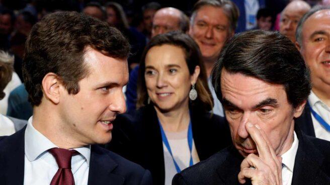 Casado y Aznar, en la Convención del PP.