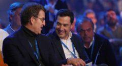 Feijóo y Moreno charlan en la Convención del PP.