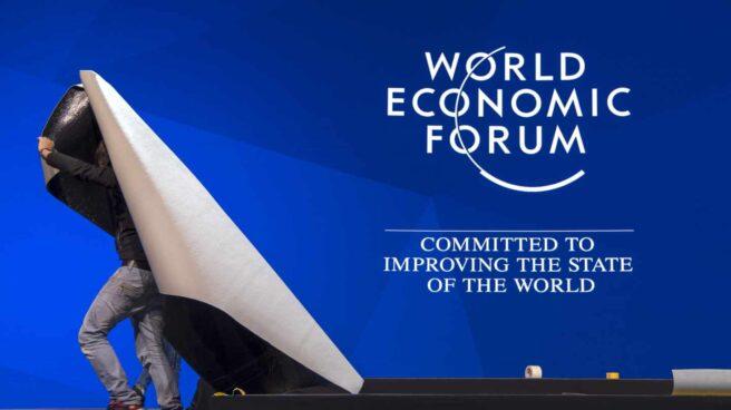 Preparativos en la Cumbre de Davos de 2019.