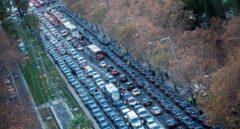 Los vehículos VTC colapsan la Diagonal de Barcelona.