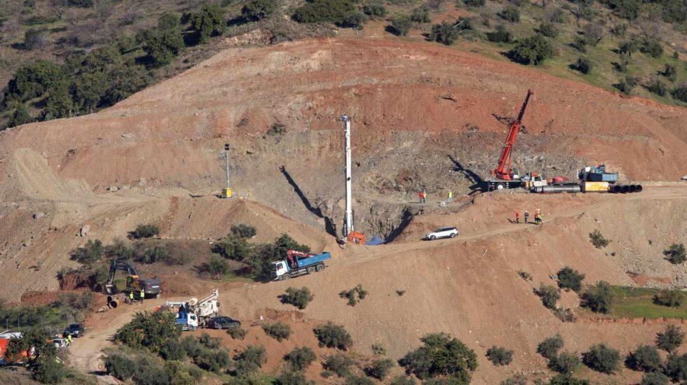 Dolmen del Cerro de la Corona durante las labores de rescate del pequeño Julen.