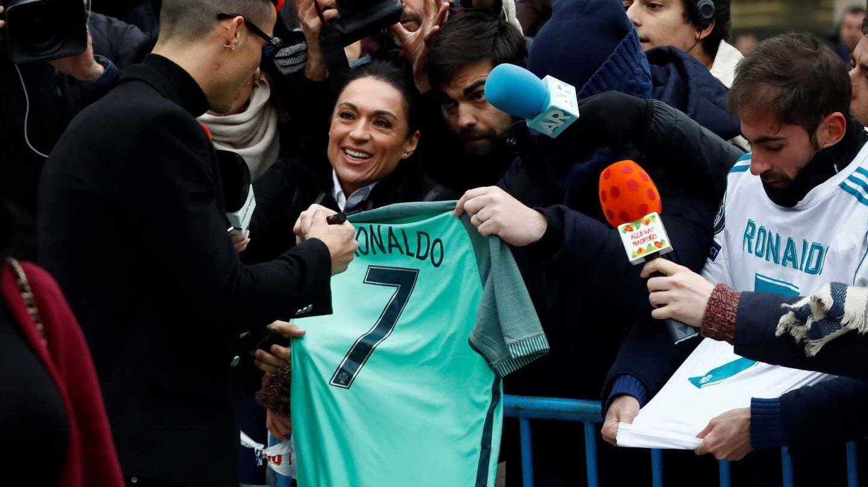 Cristiano Ronaldo a la salida de la Audiencia Provincial de Madrid.