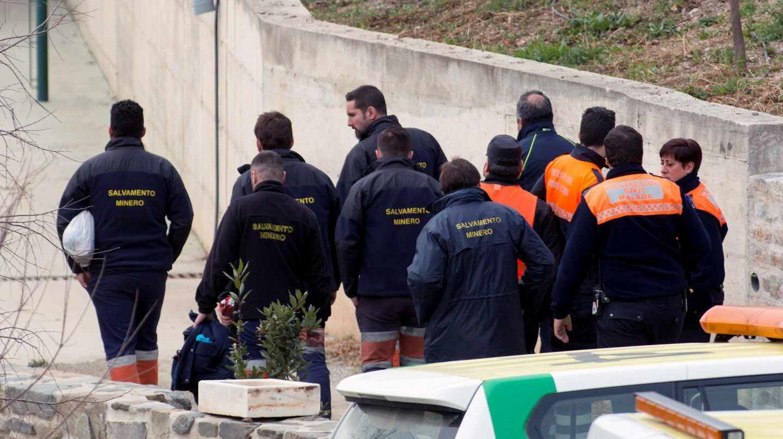 La Brigada de Salvamento Minero de Hunosa llega al puesto de mando donde se continúan los trabajos de rescate de Julen