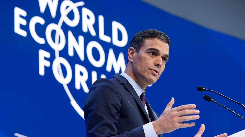 Pedro Sánchez interviene en el Foro de Davos.