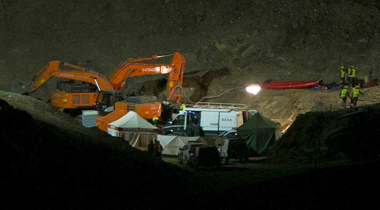 Trabajos de los mineros en el pozo de Totalán.