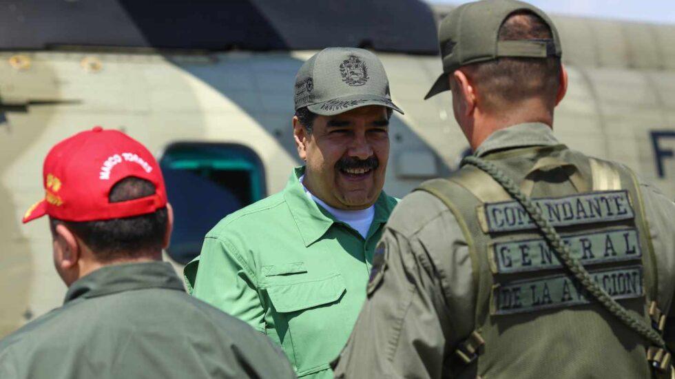 Nicolás Maduro, en una base militar en Aragua (Venezuela).