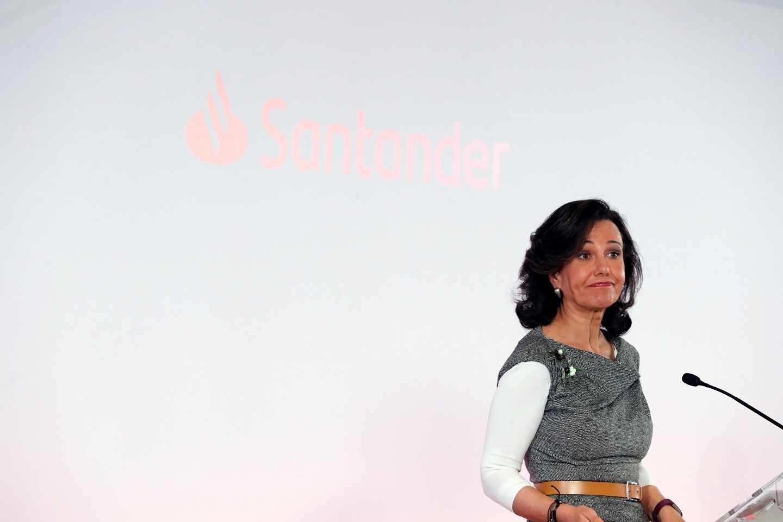 La presidenta del Banco Santander, Ana Botín, durante la presentación de resultados.