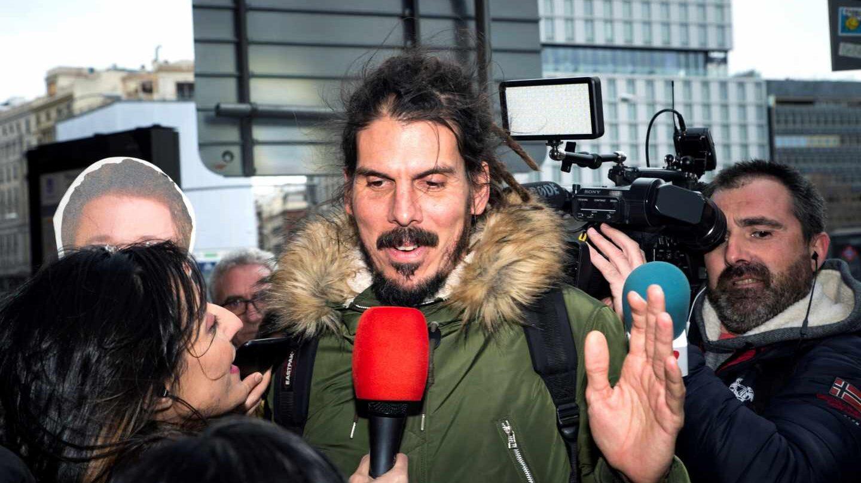Alberto Rodríguez, diputado de Podemos, llega al Consejo Ciudadano Estatal.