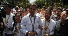 Juan Guaidó, en una manifestación en Caracas.