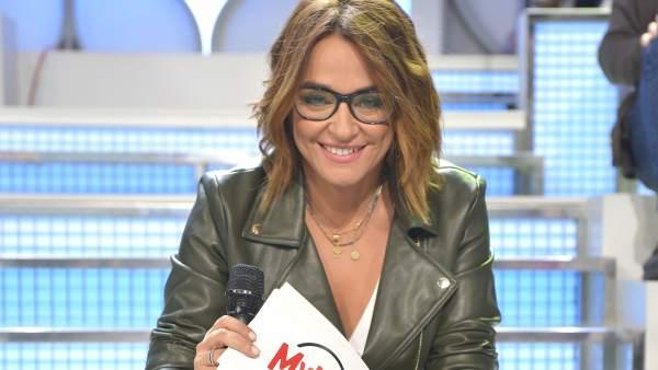 Toñi Moreno en el plató de MYHYV.