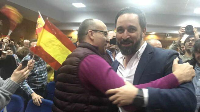 Santiago Abascal, en un acto de Vox en Teruel.