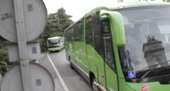 Autobus interurbano en Madrid