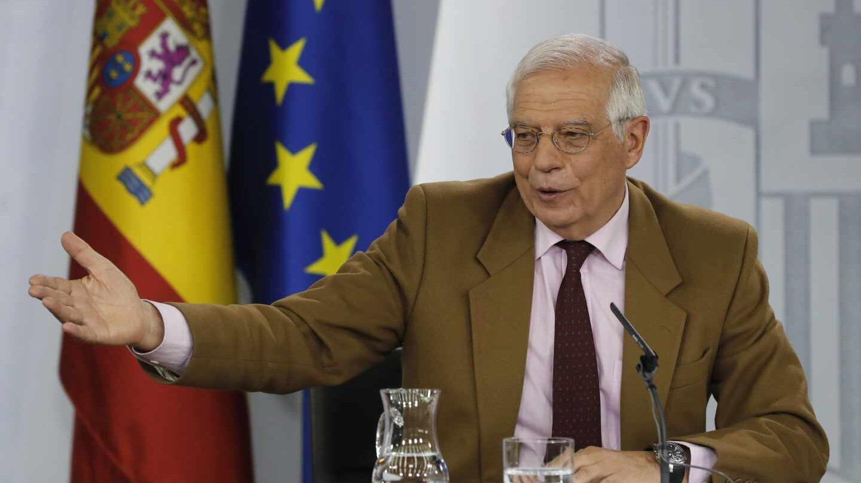 El ministro español de Exteriores, Josep Borrell, en el Consejo de Ministros.