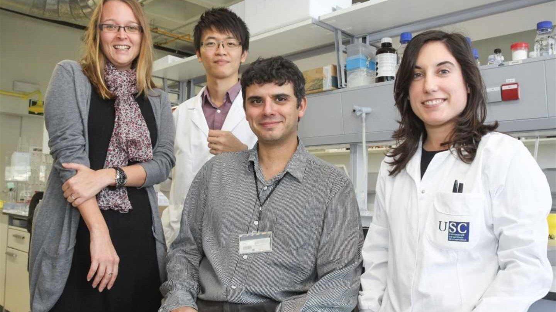 Científicos de la Universidad de Santiago de Compostela.