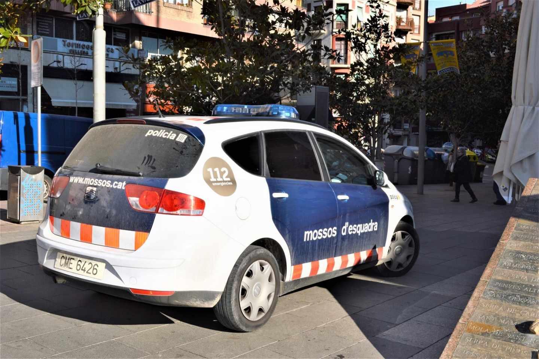 Coche patrulla de los Mossos d'Esquadra.