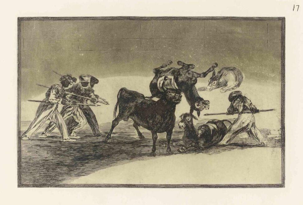 'Cuatro platos' de la serie 'La Tauromaquia'. Francisco de Goya