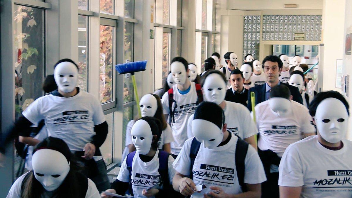 Movilización de estudiantes en la Universidad del País Vasco (UPV)