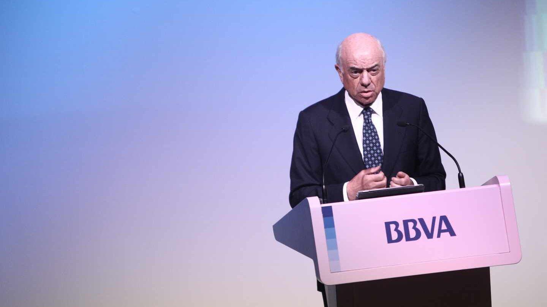 Francisco González, en una comparecencia durante su etapa como presidente del BBVA.