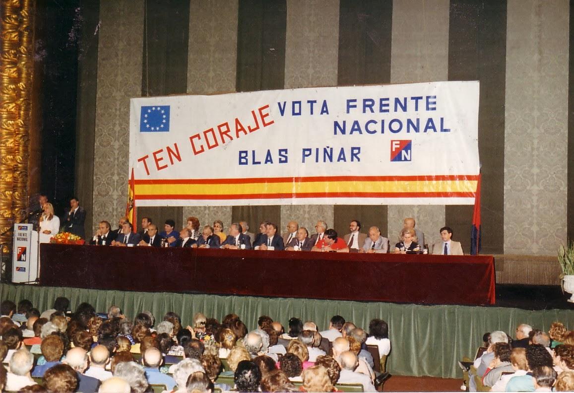 Cierre de campaña del Frente Nacional de Blas Piñar para las Elecciones Europeas de 1989.